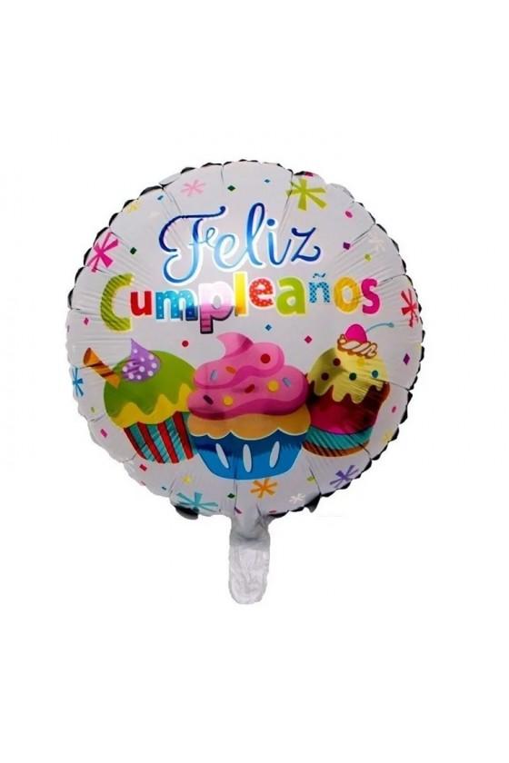 Globo de feliz cumpleaños sin varilla