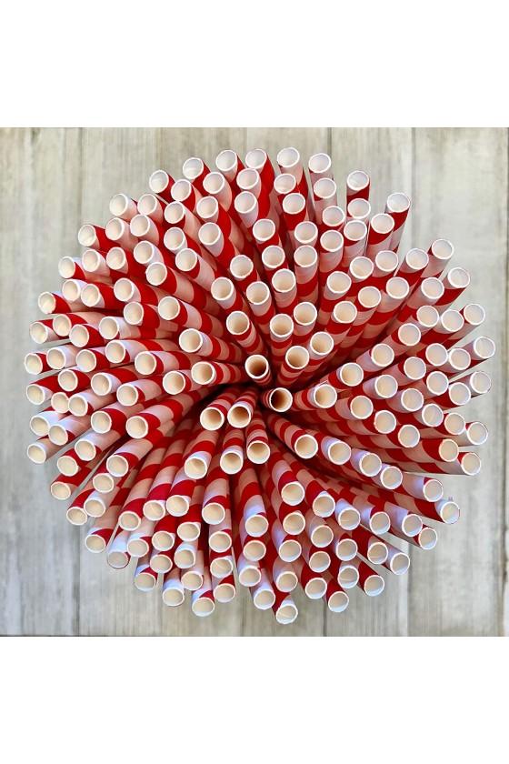 Bombillas de papel bicolor 100 unidades