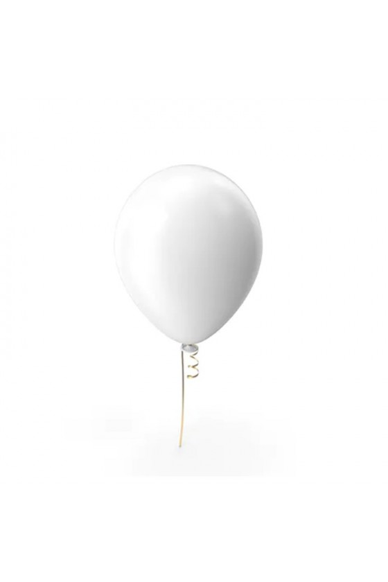 Globo color blanco N°9