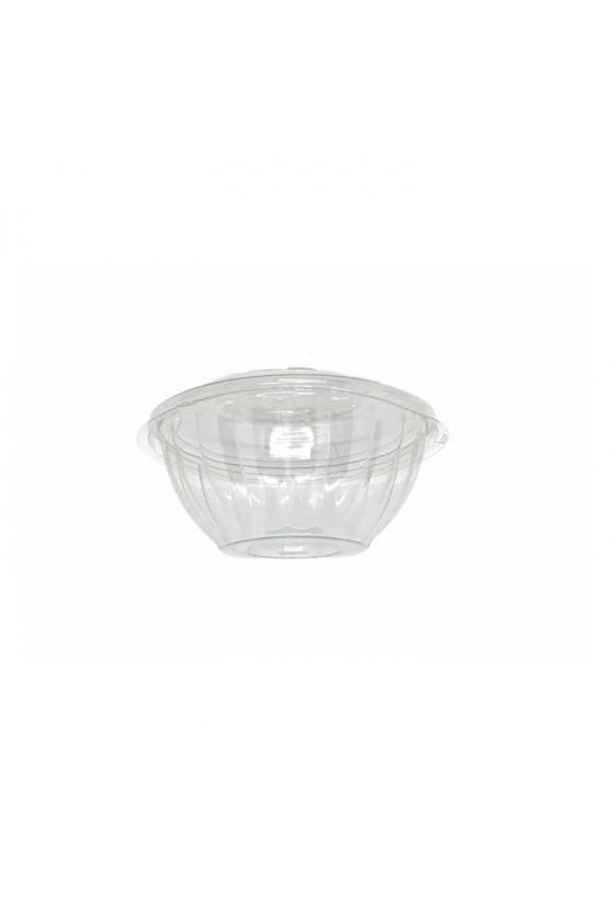Bowl 16 oz Plástico con tapa transparente