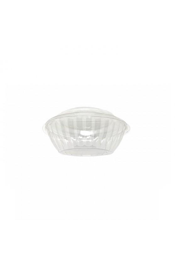 Bowl 24 oz Plástico con tapa transparente