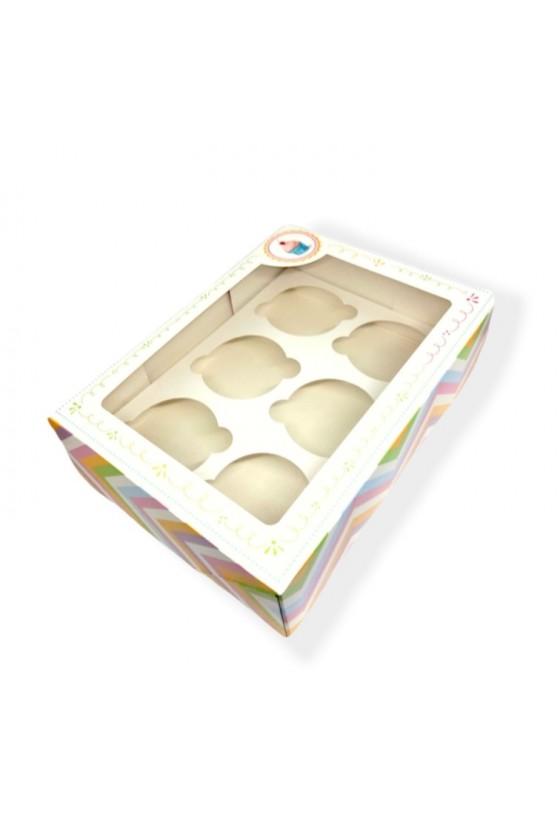 Caja para 6 cupcake