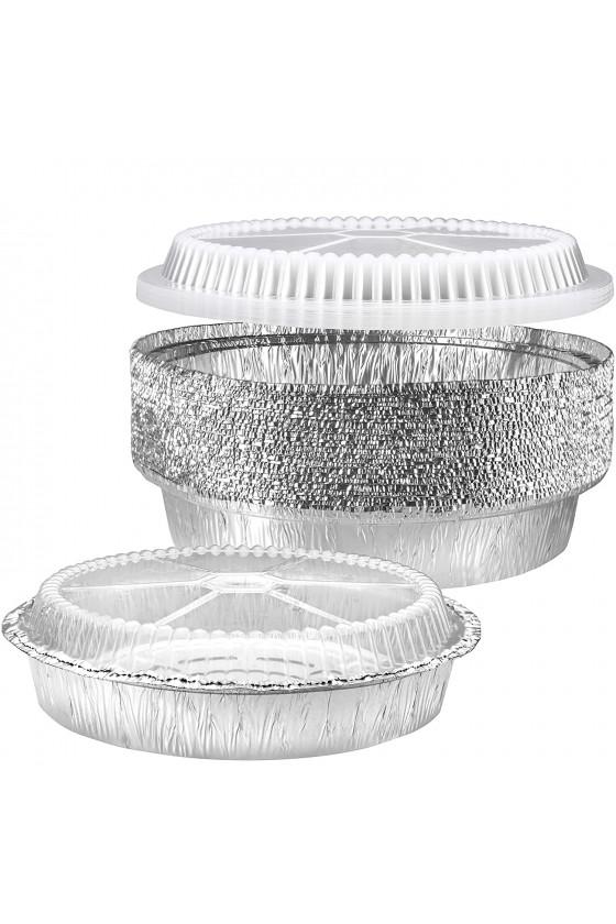 Envase de aluminio 45oz con tapa transparente
