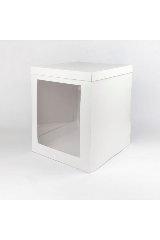 Caja para torta blanca con...