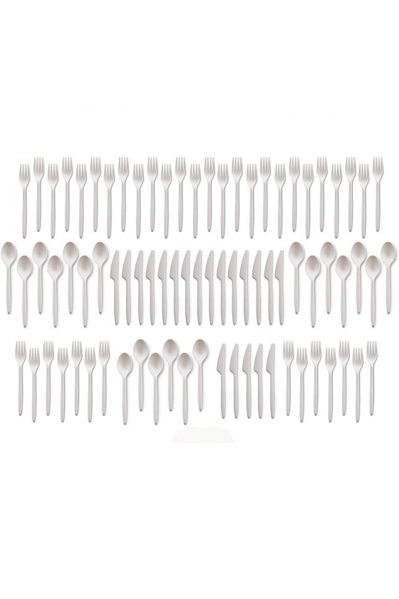 Tenedor de plástico blanco