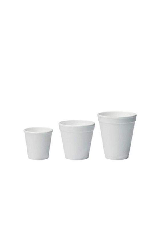 Vaso plumavit 4 oz sin tapa