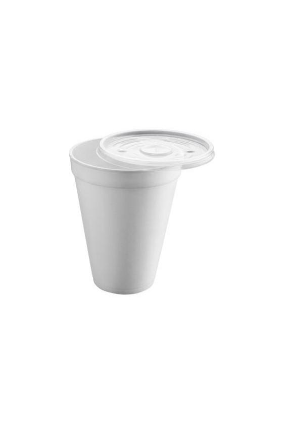 Vaso plumavit 10 oz con tapa