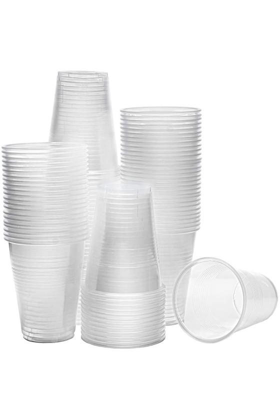 Vaso plástico transparente 200 cc sin tapa