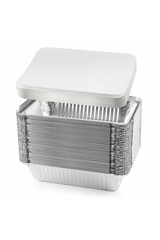 Envase de aluminio C-18 con tapa termolaminada