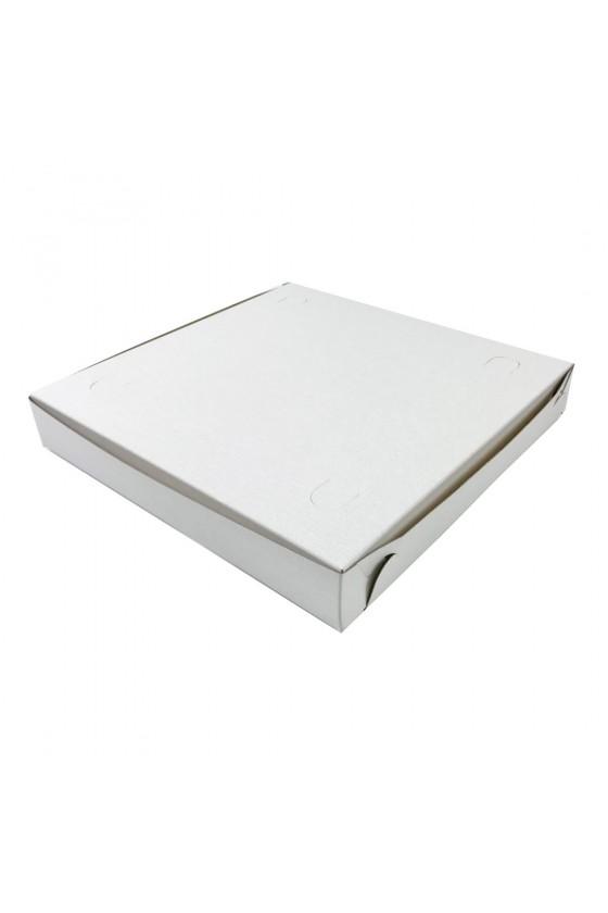 Caja de pizza blanca chica...