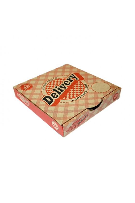 Caja de pizza corrugada...