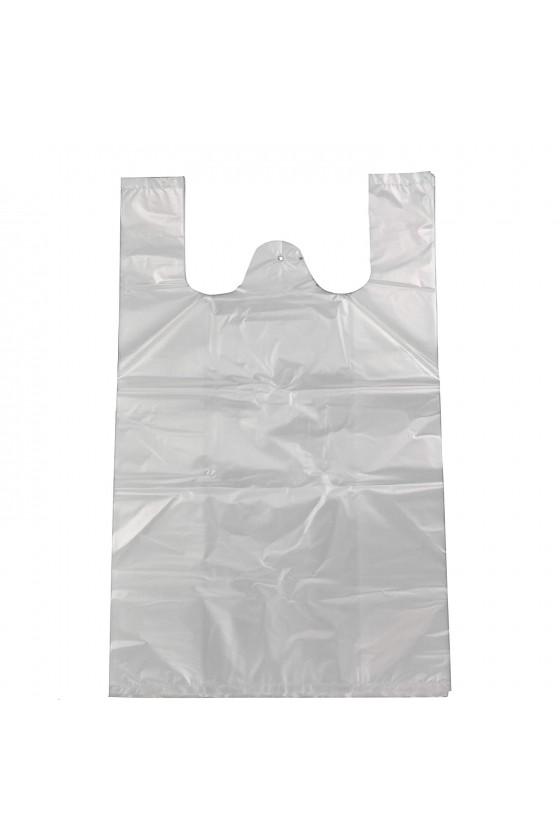 Bolsa camiseta blanca 35X45CM