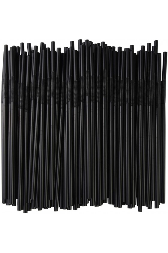 Bombillas plásticas flex negras