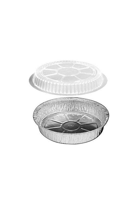 Envase de aluminio R-60 con tapa transparente