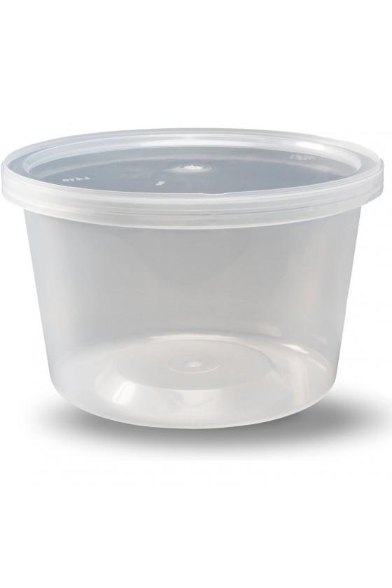 Contenedor transparente 16 oz