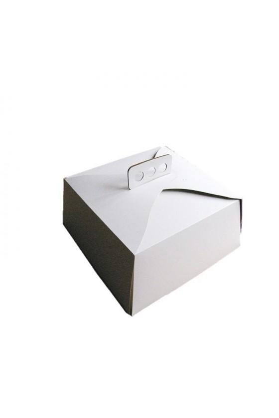 Caja para torta blanca grande