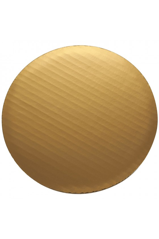 Disco para torta dorado...
