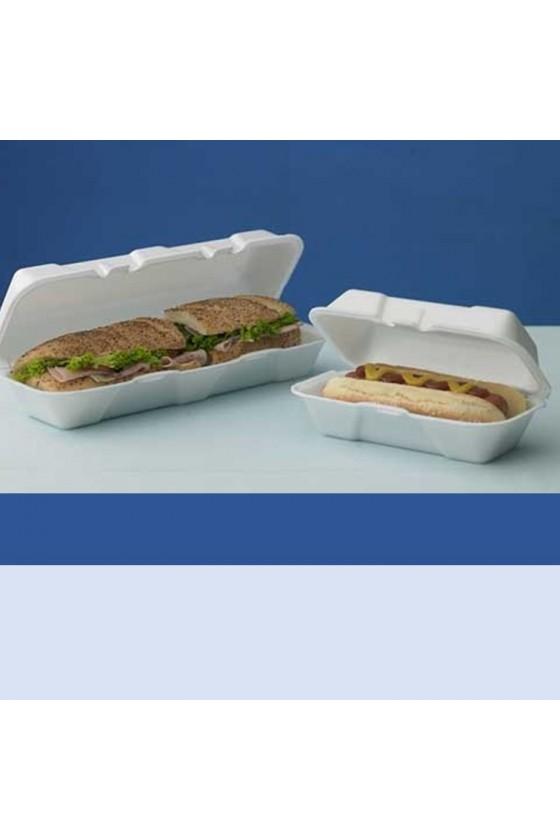 Envase hot-dog pequeño plumavit