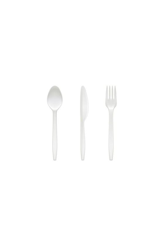 cuchara Sopera Plástica Blanca