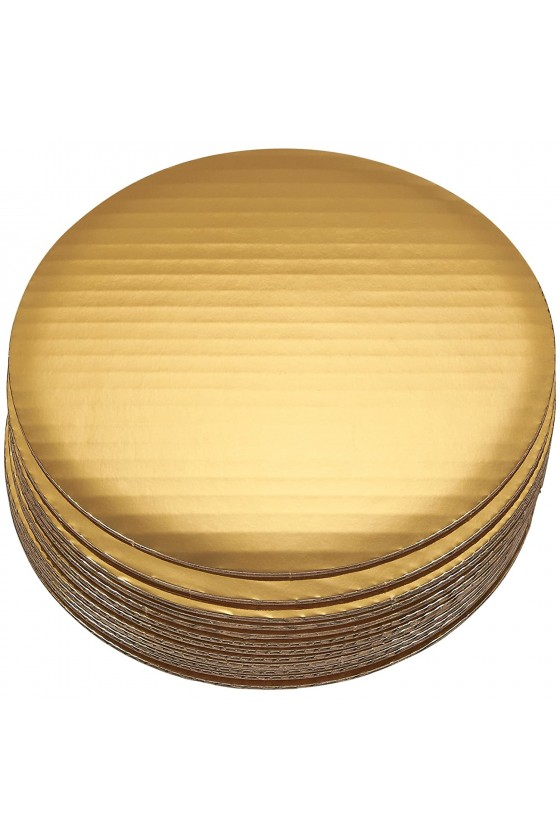 Disco para torta dorado 26 cm borde liso