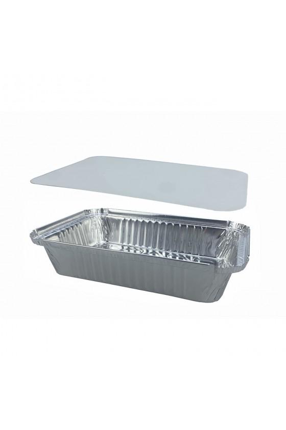 Envase de aluminio C-40 con tapa termolaminada