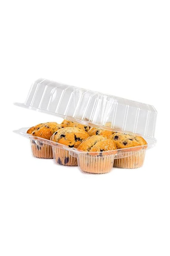 Envase plástico para 6 cupcake