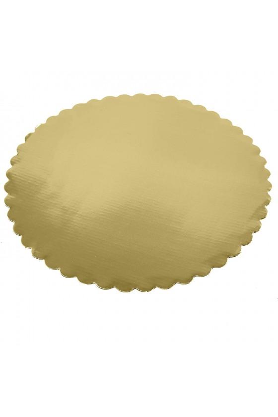 Disco para torta dorado 26...