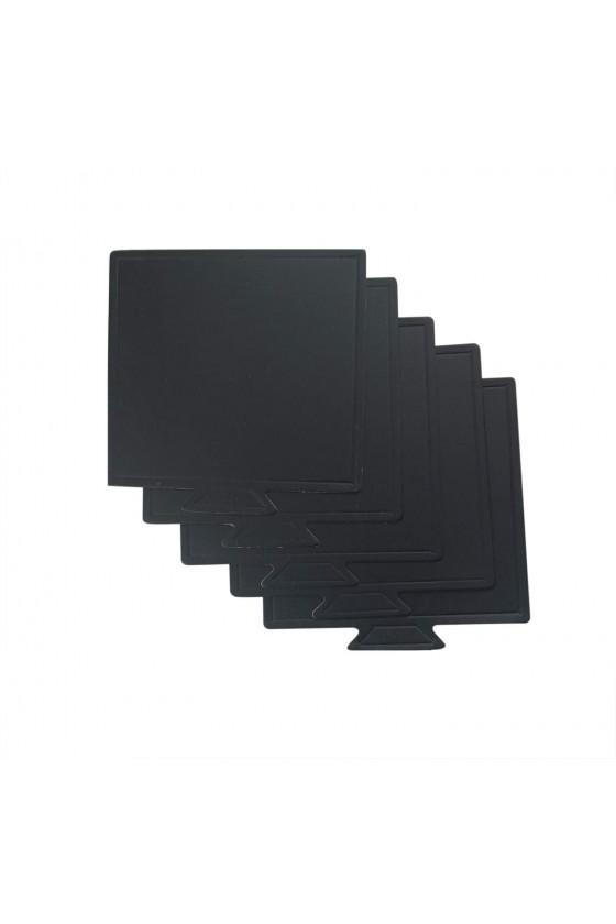 Base para postre cuadrado color negro
