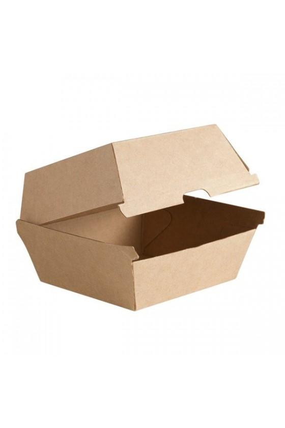 Caja kraft para hamburguesa