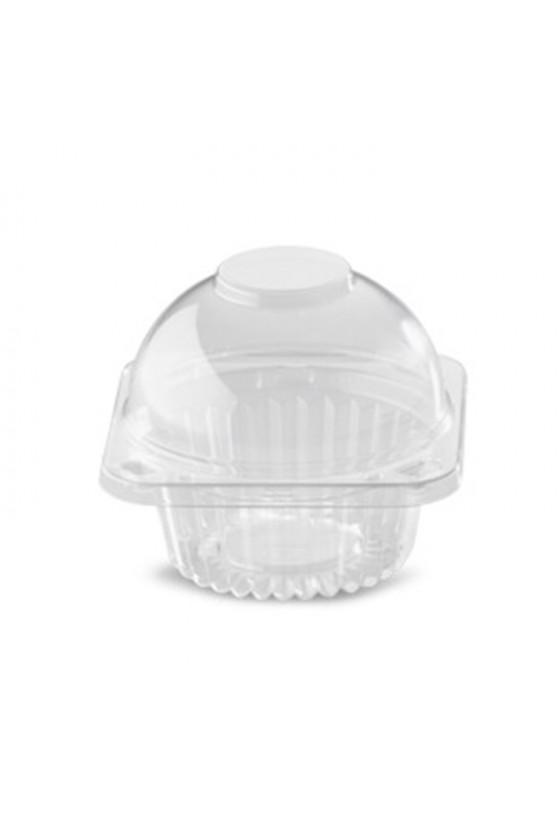 Envase plástico para 1 cupcake