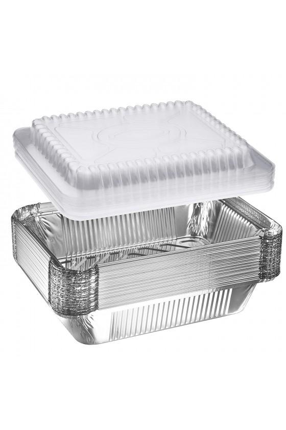 Envase de aluminio C-18 con tapa transparente