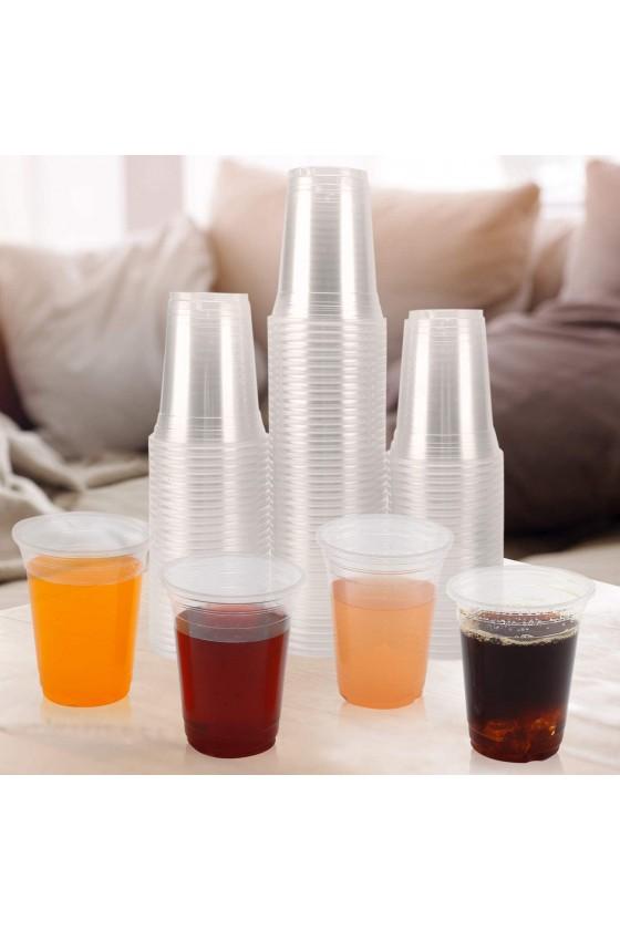 Vaso plástico transparente 14oz sin tapa