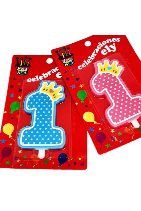 Vela para cumpleaños 1 año niño