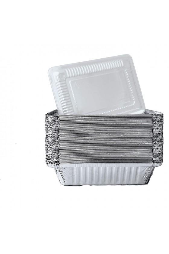 Envase de aluminio C-20 con tapa transparente