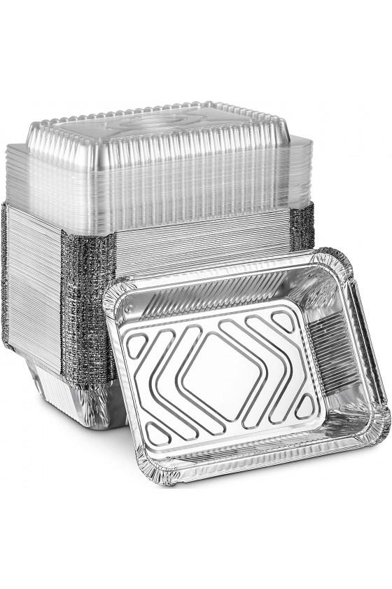 Envase de aluminio C-40 con tapa transparente