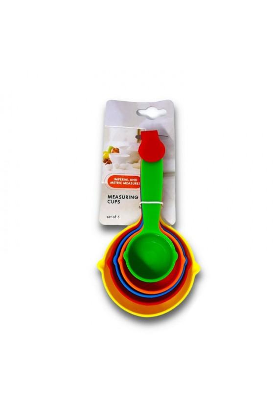 Tazas medidoras de colores