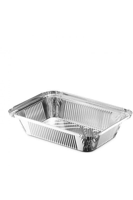 Envase de aluminio C-65 con tapa transparente