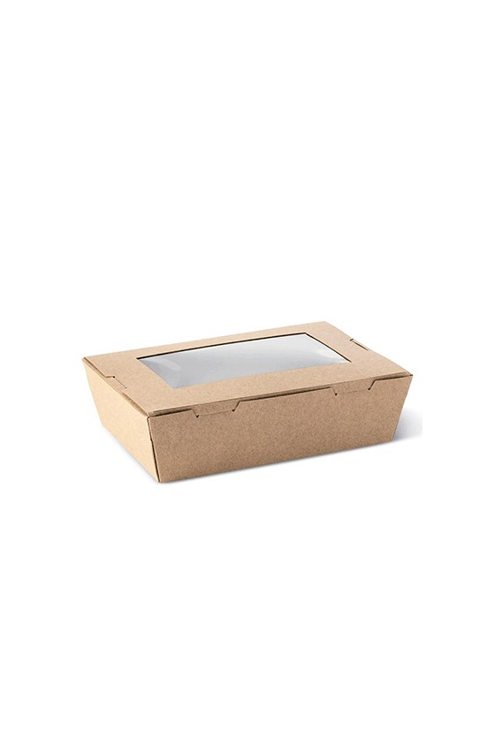 Caja kraft con ventana 2100 ml